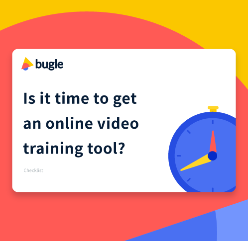 bugle online video training tool for customer education