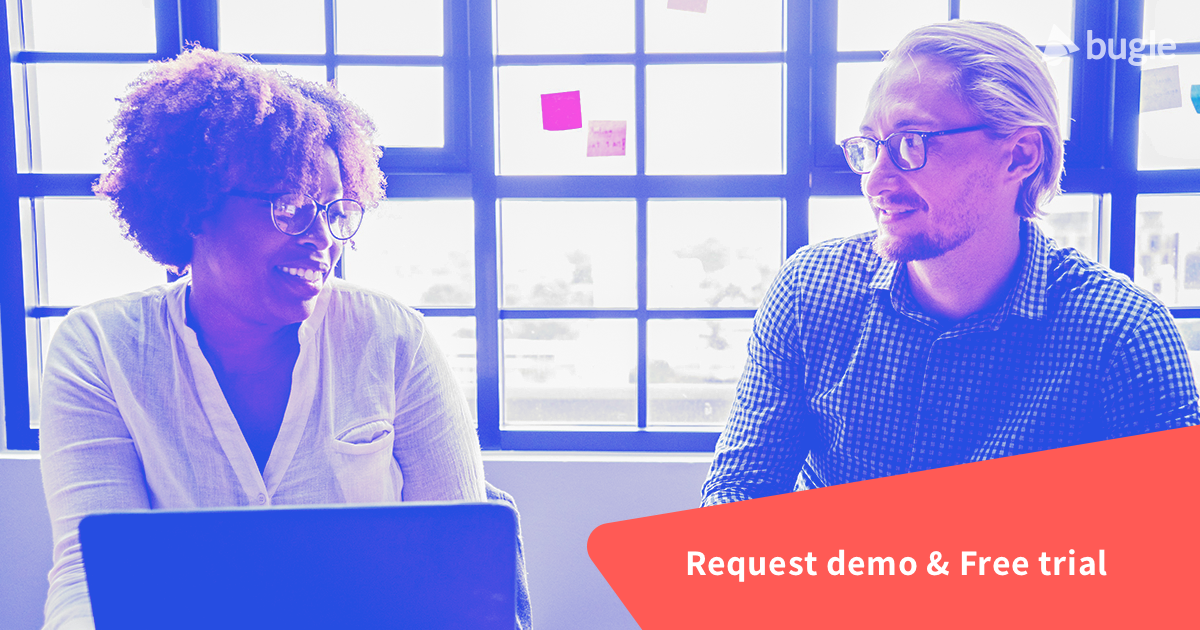 request demo and free trial | bugle video training platform | LMS